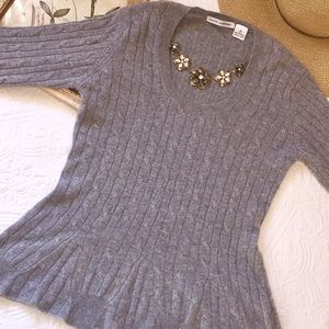 Autumn Cashmere heather gray sweater